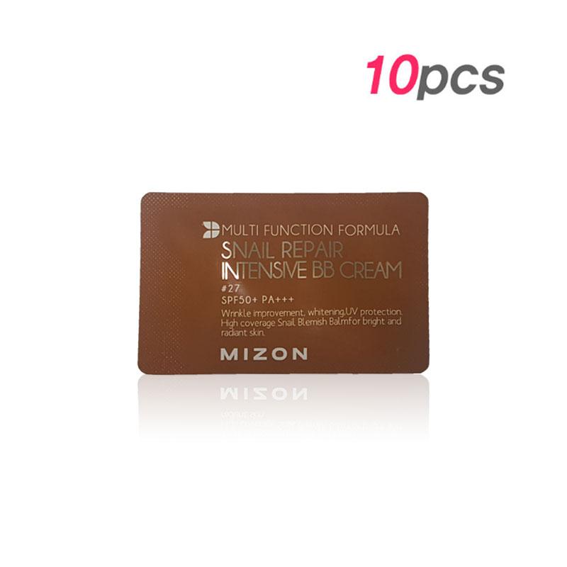 Product : [MIZON] Snail Repair Intensive BB Cream #27 1ml * 10pcs [Sample] (Weight : 24g)