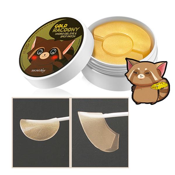 Secret key gold racoony hydro gel eye mask spot patch 90p sleep.